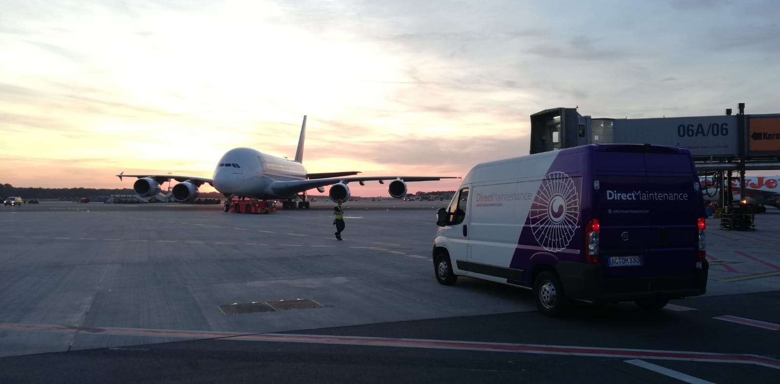 Direct Maintenance welcomes the first A380 at Dusseldorf (DUS) station