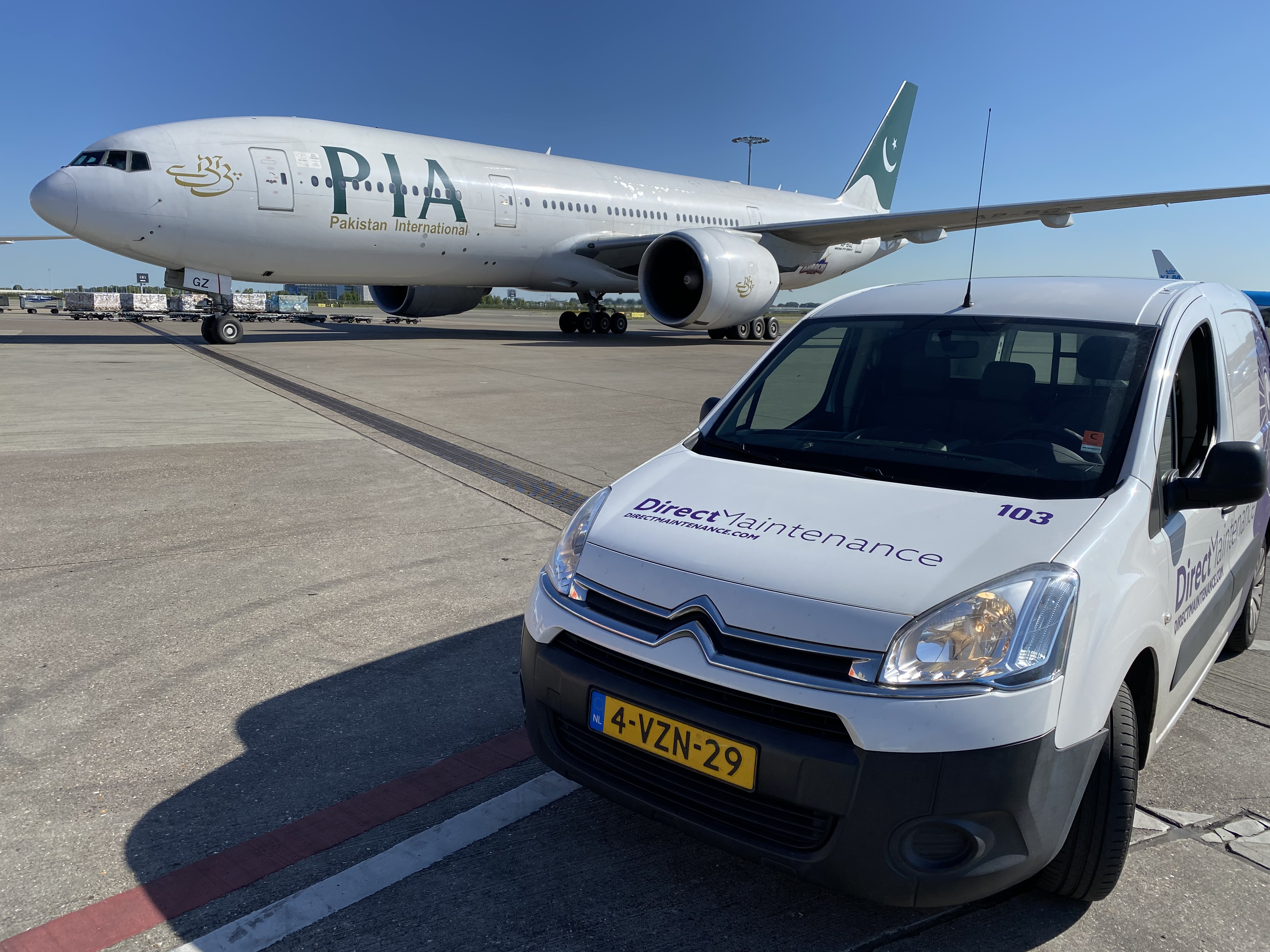 Direct Maintenance welcomes back Pakistan International Airlines in Amsterdam