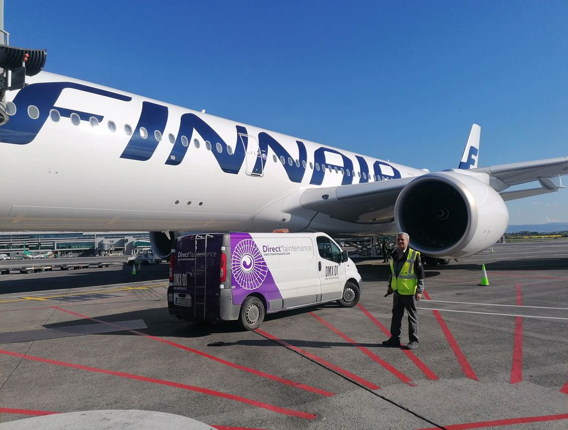 Direct Maintenance supports Finnair flight bringing medical supplies