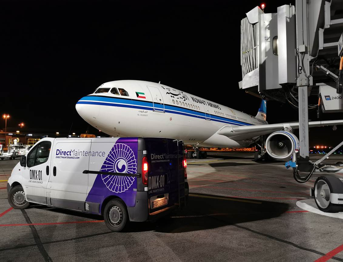 Direct Maintenance supports Kuwait Airways with rescue flight